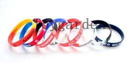 Wholesale Football Team Charms - Free Shipping 20Pcs lot Colorful Football Team Sport Club Silicone Rubber Wrist Bracelets Bangles Unisex Charm Bangles