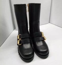 Genou bottes hautes boucle talon plat femmes automne bottes d'hiver en cuir véritable bottes longues chevalier femme ? partir de fabricateur