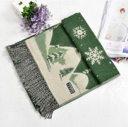 Wholesale Winter Snowflakes Scarf - fashion Christmas men wowen Scarf 2016 Christmas tree snowflake pattern autumn winter warm scarf 12 styles choose