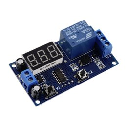 Wholesale Timed Power Relay - DC 12V Digital Display Trigger Cycle Time Delay Relay Module Board Wholesale 2016 hot free shipping