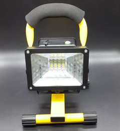 Wholesale Dc Led Floodlight Outdoor - 2015 New 30W W804 IP65 LED Floodlights AC110-240V Rechargeable Outdoor Lawn Lamp Powered By 3*18650 Battery