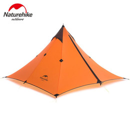 Wholesale Ultralight Person Tent - Wholesale- Naturehike Ultralight Outdoor Tent 1 Person Waterproof 20D Silicone Tourist Travel Camping Hiking Tent Winter Tents NH17T030-L