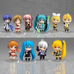 Wholesale Anime Figure Vocaloid - New Vocaloid HATSUNE MIKU Family Figures 10pcs set Rin Len Anime Figure Toys