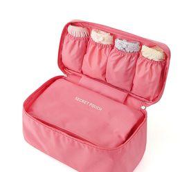 Wholesale Bra Hard - 100% Brand New Travel Bra Underwear Lingerie Organizer Cosmetic Makeup Toiletry Wash Storage Case Bra Bag
