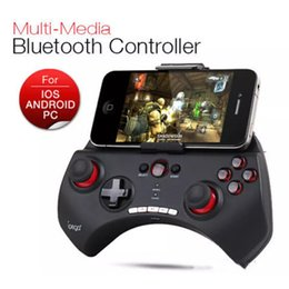 Wholesale Iphone Gamepad Bluetooth - PG 9025 Gaming Bluetooth Controller Gamepad Joystick Joypad For iPhone iPad Samsung HTC Moto Android Tablet PCS Game Black White