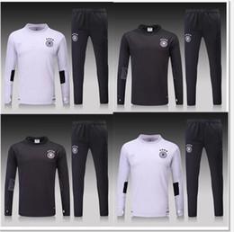 Wholesale Germany Coat - Wholesale - muller 2017-2018 Germany N98 training suit, jacket, coat OZIL Gotze Reus Kroos Neuer HUMMELS 2017-2018 German football jersey