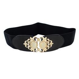 Wholesale Vintage Rhinestone Belts - Wholesale New Coming European style PU Leather And Elastic Ribbon Opal Rhinestone Vintage Wide Elastic Belt for Women