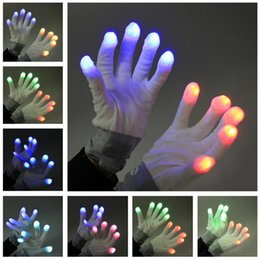 Wholesale Christmas Hand Work - Amazing Best selling christmas item midnight led work gloves flashing acrylic gloves winter hand gloves