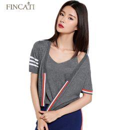Wholesale Yellow Striped Sweater Women - Wholesale- 2016 Women's Summer Autumn Striped Knitted Sweater Short Sleeve Short Design Cardigan Soft Patchwork Knitwwear Shirt