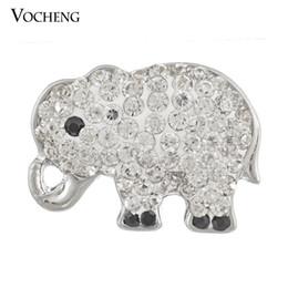 Noosa Ginger Snaps 9 Colori Cute Elephant Intercambiabili Bottoni in cristallo Accessorio per gioielli Vocheng (Vn-405) da cristalli di elefanti fornitori