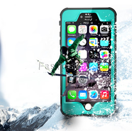 Wholesale Iphone Waterproof Case Redpepper - Redpepper Dot Series Waterproof Case Diving Underwater Watertight Cover For iPhone 6 6S Hard PC+TPU Hybrid Armor Cover for iphone 6S Plus