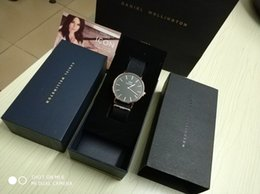 Wholesale Paper Bag Tags - DW ladies luxury watches new original box gift box with manual paper bag