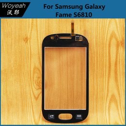 Wholesale Galaxy Fame Phone - Samsung Galaxy Fame S6810 Touch Screen Digitizer Panel Replacement White And Black Mobile Phone Front Glass Lens Repair Parts
