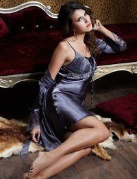 Wholesale Xl Nightgowns - Free Shipping Women Nightgowns Full Sleeve Solid Robe Sets Twinset Bathrobe Imitation Silk Sleepwear Lace Pijama Limited 9223