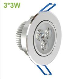 Haute puissance 9W conduit plafond Down Light 85-265v 110lm / w non dimmable Led spot encastré lampe de plafond avec projecteur projecteur CE RoHS ? partir de fabricateur