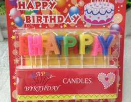 Wholesale Digital Birthday Candle - English 13 letters HAPPY BIRTHDAY candles Digital candle cake birthday day preferential benefit EMS or dhl freeshipping HY677