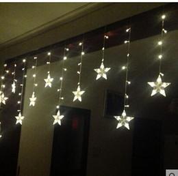 Ehe führte licht dekoration online-3 * 0.6M120 Lichter 12-spitzen Sternschnitt Fenster Dekoration Vorhang Vorhang Ehe Raumaufteilung blinkende LED leuchtet Zeichenfolge