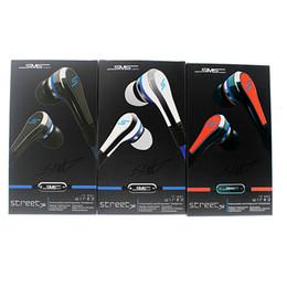 Fones de ouvido mudo mic on-line-clone Mini 50 cêntimos com microfone e botão mudo SMS Áudio 50 cêntimos Fones de ouvido intra-auriculares STREET by 50 Cent com caixa de retalho EAR012