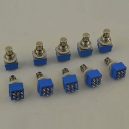Wholesale Guitar Effects Pedals Metal - LOT20 3PDT 9-pin Guitar Effects Stomp Switch Pedal Box Foot Metal True Bypass