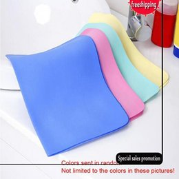 Wholesale Synthetic Wash Leather - 2 pcs Colorful Magic Car Washing Wipe Towel Cloth Absorber Synthetic Chamois Leather