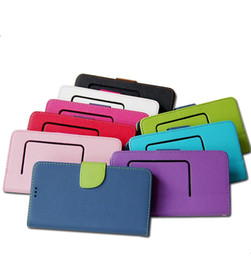 Wholesale Card Sized Mobile Phone - Universal Wallet Cross Pattern PU Flip Leather Case with Credit card slots For 3.5 to 5.7inch 5 size Cell Mobile Phone case