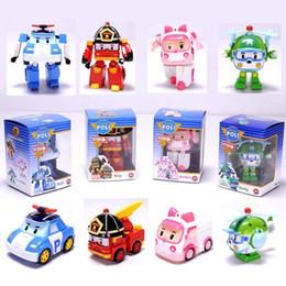 Wholesale Robocar Poli Toys - hot deformation car poli Robocar bubble toys 4 models South Korea Poli robot transformer car Helly Amber Roy