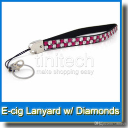 Wholesale Necklace Ego Diamond - Diamond E Cig Necklace string neck chain Lanyard for ego ego t ego w ego c ego F electronic cigarette ecigarette from shenzhen factory