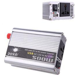 Wholesale Solar Grid Tied Inverter - 500Watt Accept Home Car Solar Power Modifid Sine Wave 500W Watt DC12V AC 120 230V Micro off Grid Tie Inverter