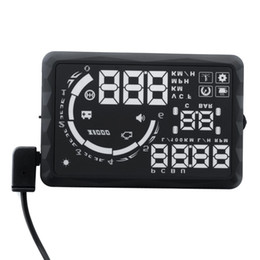 "Wholesale Fuel Display - Car Auto OBD II HUD 5.5"" LED Vehicle-mounted Head Up Display Over Speeding Fuel Consumption & Temperature Warning"
