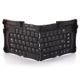 Wholesale Mobiles Keyboard - DHL Free Mobile Bluetooth Foldable Keyboards Wireless Keyboard for PC Design Wireless Keyboards GK308 Four folding design