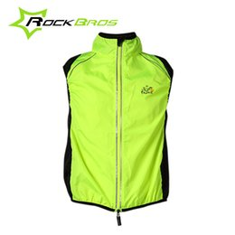Wholesale Bike Vests - ROCKBROS Tour de France Cycling Sportswear Men Jerseys Cycle Clothing Windcoat Breathable Bike Jacket Sleeveless Vest 4 Colors