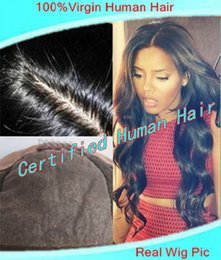 Wholesale Color Hair For Brown Skin - 2-3day fast arrive body wave Peruvian Virgin human hair Silk Top Front lace wig&full lace wig Glueless Natural skin hairline for black women