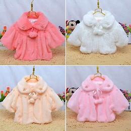 Wholesale 24 Month Girl Snowsuit - Wholesale-2015 Winter Newborn 6 12 24 Months Baby Girl Fur Coat Cloak Jacket Snowsuit Outerwear