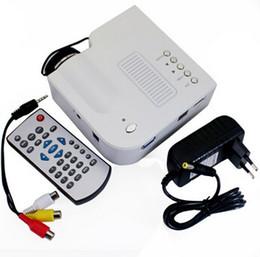 "Wholesale Mini Projetor Led Uc28 - White UC28 portable pico led mini HDMI video game projector,digital pocket home cinema projetor proyector for 80"" cinema with box"