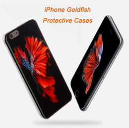 Wholesale rubber wallets - For iphone 6 6s 6 plus 6s plus Goldfish Matte Texture Ultrathin Soft Sillicone Rubber cover protective case (Mix Order Allowed)