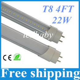 Wholesale Dimmable Led T8 - Dimmable T8 Led Tubes Light 22W 4FT 1.2m Led Fluorescent Tubes Lamp 2835 SMD 96LEDS 2100Lumens Warm Natrual Cold White AC 110-240V