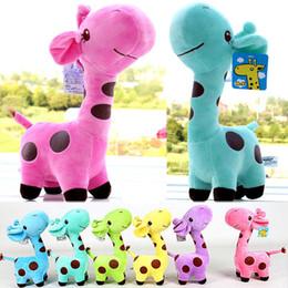 Brinquedos de girafas macias on-line-Adorável girafa de brinquedo de pelúcia macia animal querida boneca bebê criança crianças presente de aniversário