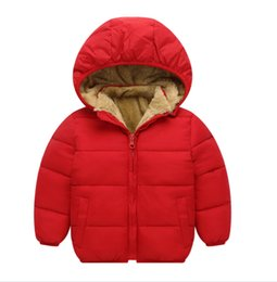 Wholesale Girls Over Coat - New Winter Boys and Girls Children over 96% cotton padded clothes short outwear detachable cap coat