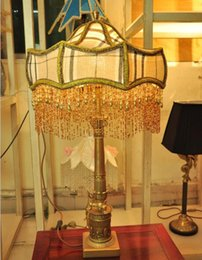 Wholesale Table Lamps Shades Wholesale - Hot Selling Antique Decorative Sacking Fabric Table Lamp Shades