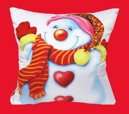 "Wholesale Black Decorative Gift Boxes - Wholesale-Christmas Pillowcase Cushion Home Decorative Santa Claus Throw Pillow Case18"" box Cotton Velvet Linen Cartoon Gift W1"