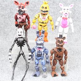 2019 máquina de imitación 6pcs / Set Five Nights en la figura de acción de Freddy Pvc Fnaf 15cm Bonnie Foxy Freddy Fazbear Bear Doll