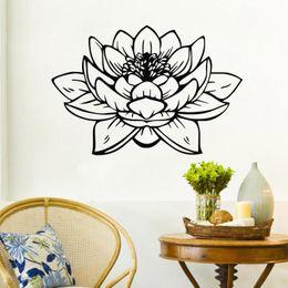 Wholesale Interior Design Kids Bedroom - Buddha Lotus Wall Stickers Bathroom Waterproof Vinyl Wall Decals Home Decor Interior Murals Glass Decoration