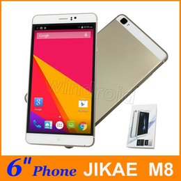 Wholesale Bar Modelling - JIAKE M8 6 inch MTK6580 512 4GB Android 5.1 960*540 Dual SIM 3G WCDMA Unlocked Smartphone Mobile phone Gesture wake Free case big screen