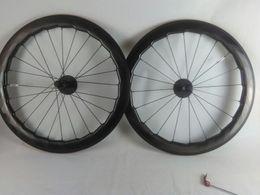 Wholesale Road Bike Wheel Rims - 2018 NSW 454 decal 25X60mm Dimple Wheel 700C Road bike full carbon wheelset clincher rims wavy crow's-feet brake surface
