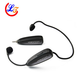 Wholesale Speaker Amplifer - Free Shipping Professional 2.4G Headset Wireless Microphone Stereo Microfone for Amplifer Computer PC Speaker Sound Automatic