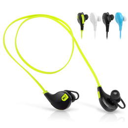 Wholesale Green Wireless Bluetooth Headphones - QY7 Mini USB Wireless Bluetooth 4.0 Earphones Headphones Stereo Earbuds Headset Mic for iPhone Sumsung Free Shipping