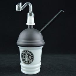 2019 кварцевые чашки Стекло Dabuccino Кубок Starbuds даб масло стекло переработчик концентрат нефтяной вышке Бонг 8