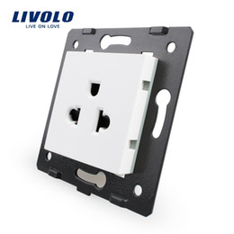 Wholesale Vl Wholesale - Free Shipping, Livolo White Plastic Materials, 45mm*45mm, US standard, Function Key For Wall Power Socket,VL-C7-C1US-11
