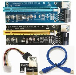 Wholesale Pci E Card - Best quality PCI-E PCI E Express 1X to 16X Riser Card +USB 3.0 Extender Cable with Power Supply for Bitcoin Litecoin Miner 60CM