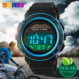 Wholesale Gold Pins Electronic - 2018 New SKMEI brand fashion leisure children's watches solar electronic sports watch multi-function outdoor waterproof digital watch.